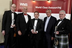 John Merritt, owner, Smart Car UK, Romford, Dave Butler, networks and contracts director, WNS Assistance, Alex Houghton, owner of Corby Car Care, Northants, Norman Hunter, Andy Neish, of Edgefield Coachworks, Loanhead.