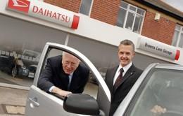 John Manning, Browns Lane Garage dealer principal and Paul Hegarty, operations director for Daihatsu Vehicle Distributions