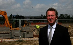 Harratts Group MD Shaun Harratt at the Calder Park development site where the £3m Honda and group HQ will be built.