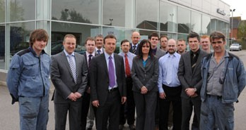 Dealer principal, David Alexander (front row, third from left) with the team from Alexanders York
