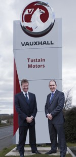 (L to R) David Storey finance director and Brian Baxter managing director Tustain Motors