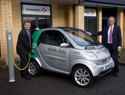 Calvey Taylor-Haw, managing director of Elektromotive (left), and Peter Rooney, managing director of VINCI Energies United Kingdom