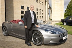 Vince Cable at Gaydon with Aston Martin and Jaguar.