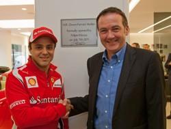 Felipe Massa and Andy Duncan, HR Owen CEO