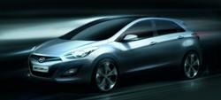 Hyundai i30 design sketch