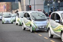 Mitsubishi i-Miev electric trial
