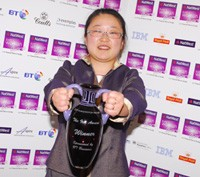 Ling Valentine with her 2009 Natwest IT and communications award.