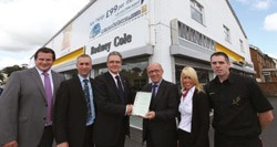 The team at Rodney Cole Cookstown receives the Renault Global Quality Award