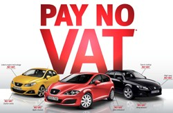 Seat Pay no VAT advertising campaign