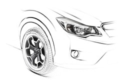 Subaru XV design sketch