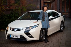 New Vauxhall ambassador Katie Melua with the new Ampera