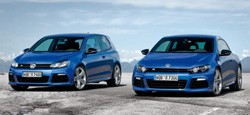 Volkswagen Golf R and Scirocco R