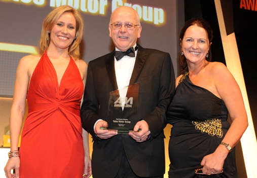 Tates Motor Group MD Trevor Meadows, with Sophie Raworth, left, and Auto Trader's Sharon Randall