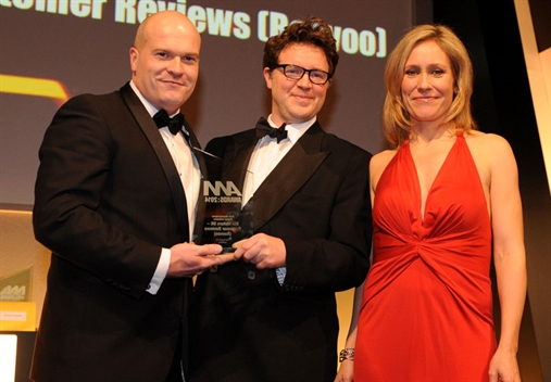 John Bache, Kia's head of customer communications (left) with Sophie Raworth  and Autotorq's Branson Atterbury