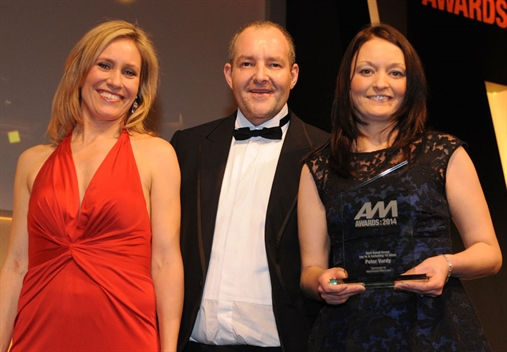 Peter Vardy group finance director Claire Maith, right, with Sophie Raworth and MainDealerOffers MD David Timmis