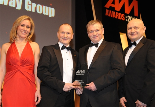 Swansway Group directors John and David Smyth, with Sophie Raworth and Mapfre Abraxas' Steve Burgess