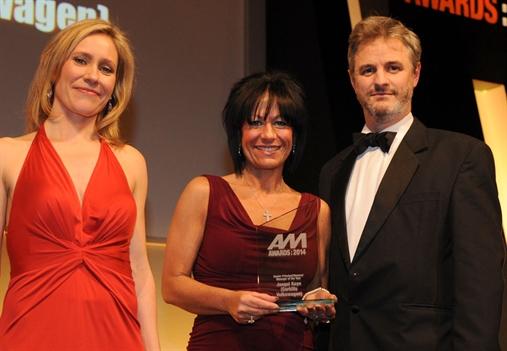 Corkills Volkswagen dealer principal Jacqui Kaye, centre, with Sophie Raworth and Sun Motors' Jim Murray-Jones
