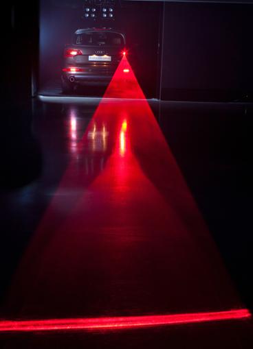 Audi lazer warning light